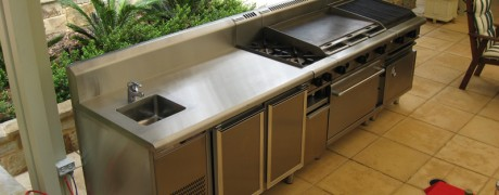 Steel Outdoor BBQ and Sink