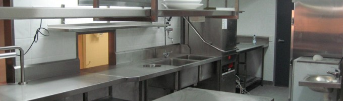 Stainless Steel Kitchen and Serving Area