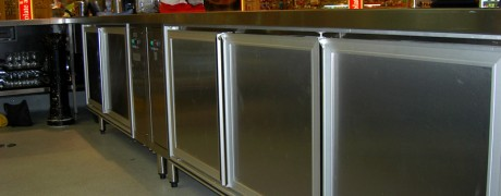 Stainless Steel Serving Area and Storage Units