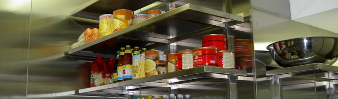 Stainless Steel Shelving Area